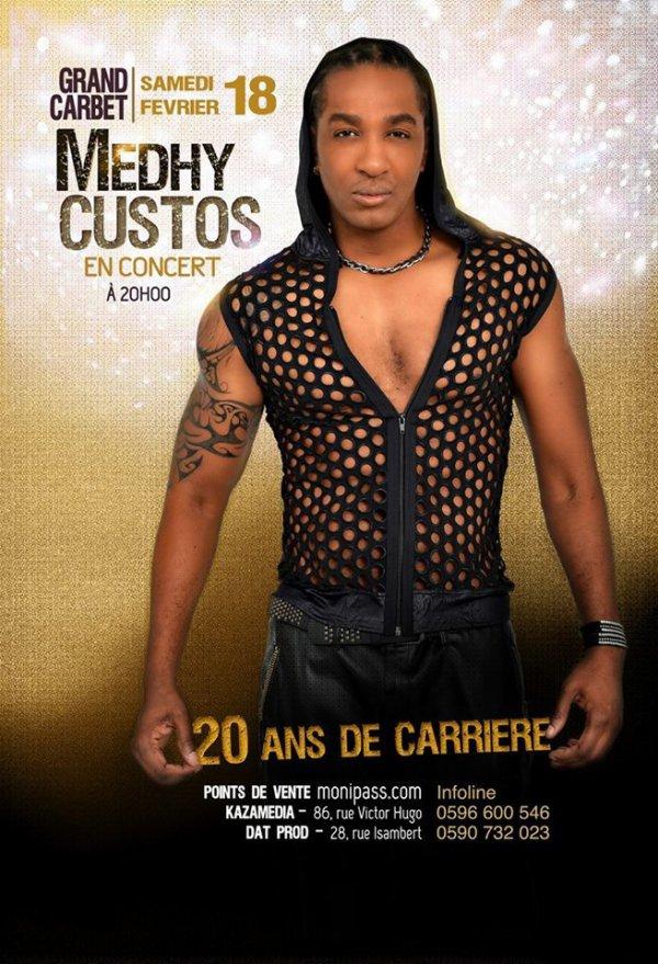 Samedi 18 février 2017 au Grand Carbet #Martinique #Concert #MedhyCustos