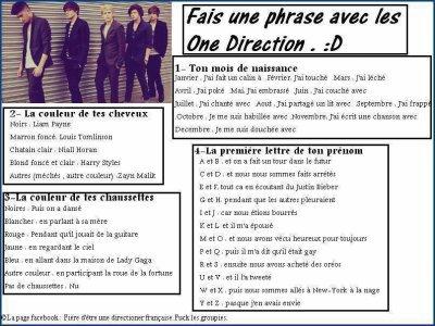 Jeux Avec Les One Direction