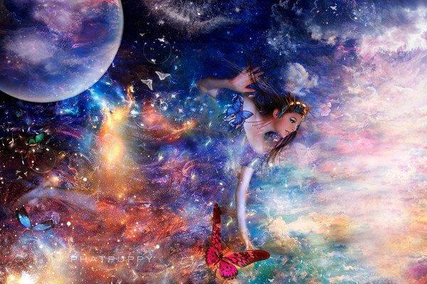 *** fée de la nuit aux papillons ***