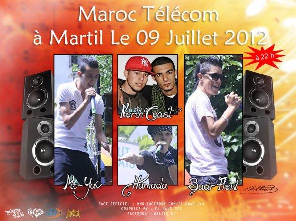 Badr FlOw En Maroc Telecom à MarTil Le 09 JuilleT 2012