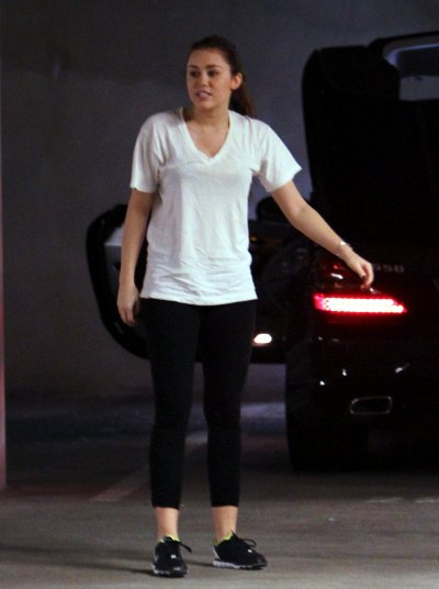March 09, 2011 Miley Cyrus Leaving the gym in West Hollywood part 1
