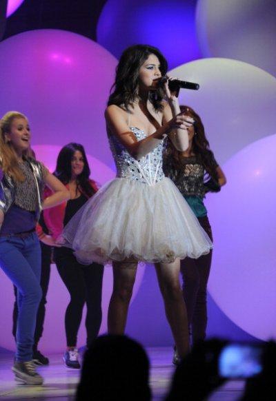 March 16, 2011 Selena Gomez performing at Disney Upfront