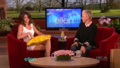 March 22, 2011 Selena Gomez  at the Ellen Degeneres show