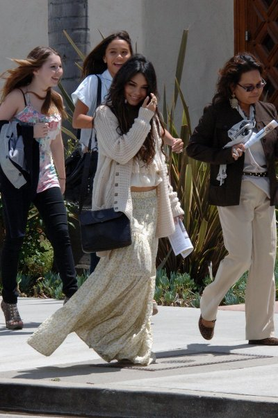 April 24, 2011 Vanessa Hudgens Attending Catholic Church 8 Pics