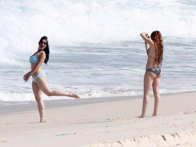 May 12, 2011 Miley Cyrus  Bikini Booty in Rio , Brasil