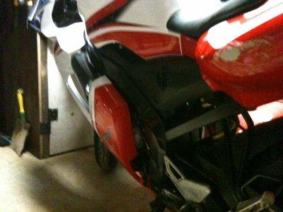 degat sur la moto