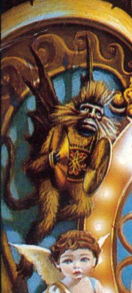 Il représente LE SINGE, du livre de Stephen King (Célèbre écrivain d'épouvante dont Michael affectionne les romans), qui, quand il claque ses cymbales, provoque la mort... D'ailleurs, la même illustration a servi aux livres de poche, à l'époque de la sortie... Depuis, d'autres photos de singe ont été utilisées.