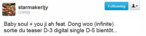 woollimgirl - Dongwoo fera un featuring avec Baby Soul & Yoo Jiah