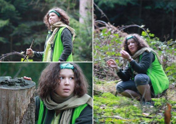 Petite Fille des Bois, du Vert & la Forêt.