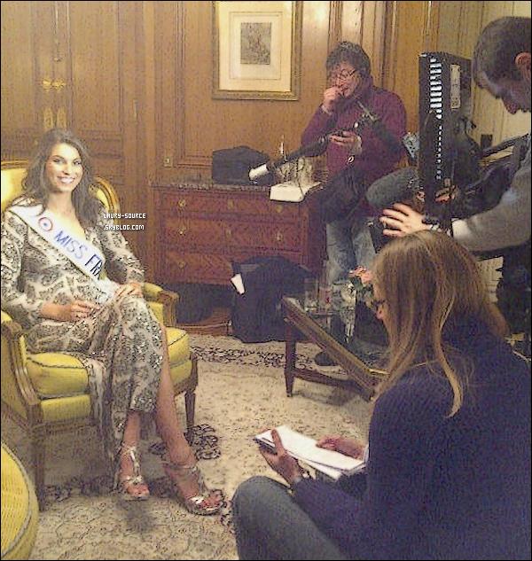 . 05/12/10_Notre belle miss France a été interviewé ce matin, pour le 19/45 de la chaîne M6 à l'hôtel de Crillion.Je trouve la robe vraiment magnifique, les chaussure aussi, qui lui vont à ravir, et la coiffure est vraiment belle. Ton avis ? .