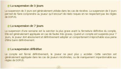 les règles de dofus ! =D