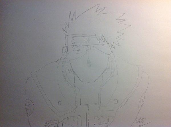 Dessin de kakashi sensei (Naruto) environ 1h.
