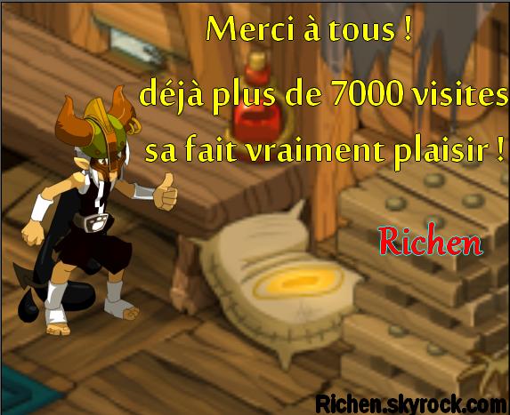 Plus de 7000 MERCI !