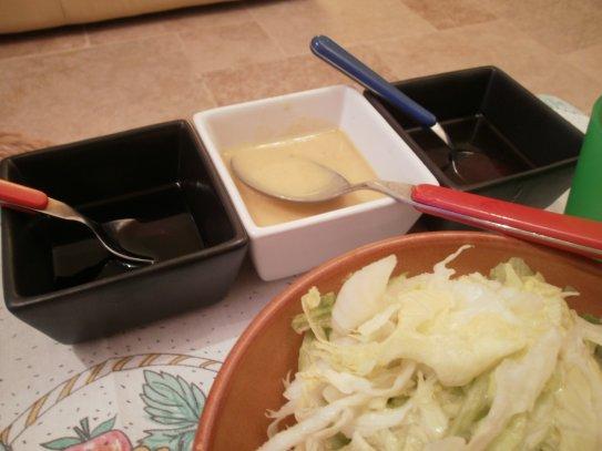 Une sauce pour accompagner vos salades .