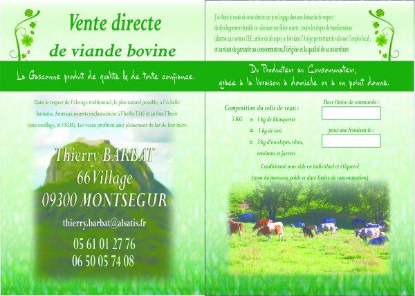 Flyers pour Barbat à Montsegur