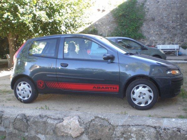 Bandes Abarth pour Fiat Punto