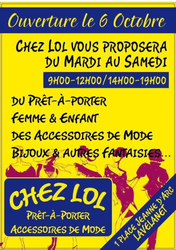 Ouverture Chez Lol - Pret a Porter