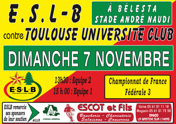 Escot & Fils sponsorise L'ESLB Match à Bélesta