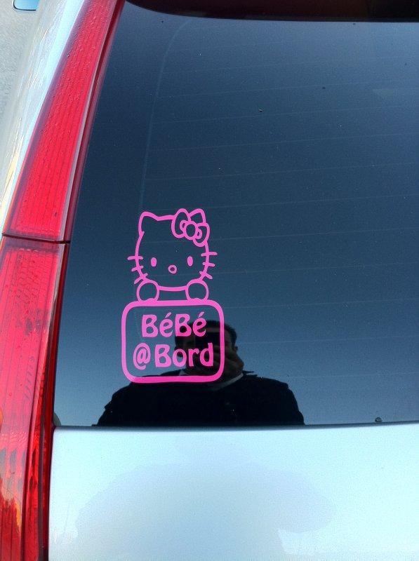 Sticker Hello Kitty Bébé à Bord
