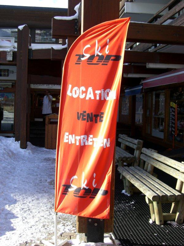 Wind Flag Ski Top petit modele marquage sublimation ;)