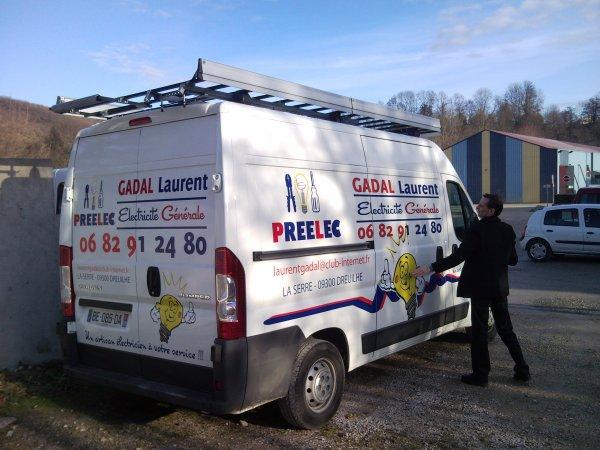 Véhicule Laurent Gadal Electricité ;)
