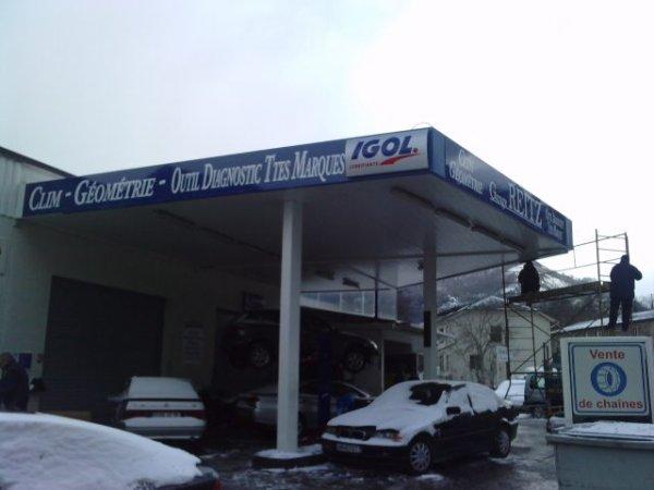 Bandeau Garage Reitz à Luzenac sous la Neige...