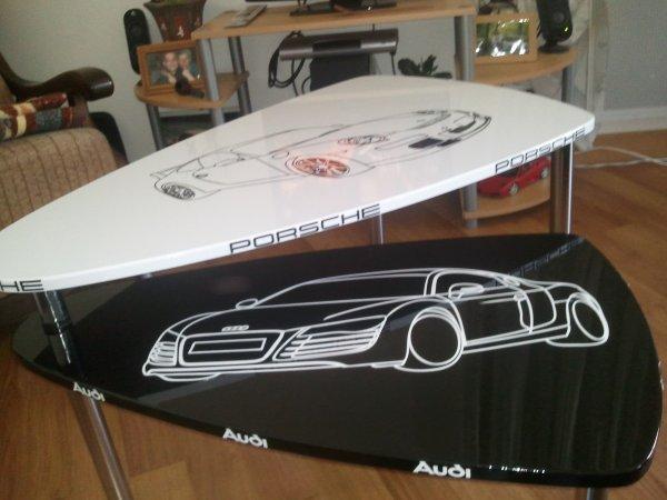 Décoration Table Basse Porsche Audi ;)