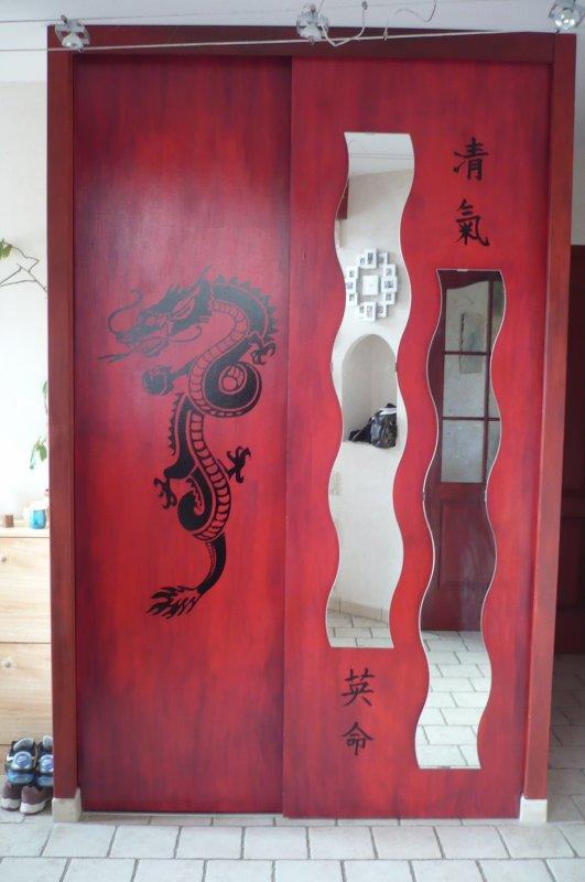 sticker dragon personnalisation placard de chambre sympa toutes mes r alisations de. Black Bedroom Furniture Sets. Home Design Ideas