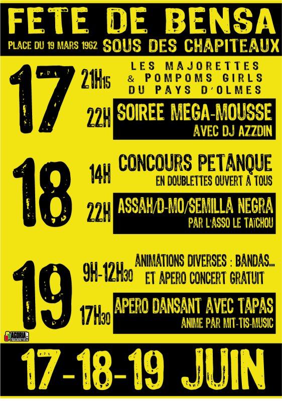 17-18-19 Juin Tous à Bensa - DJ AZZDIN SEMILLA NEGRA MAJO et tous les autres....