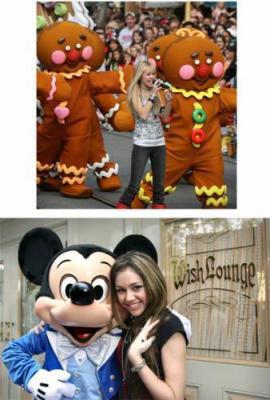 Miley a Euro Disney
