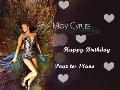 Happy Birtday Miley cyrus!!!