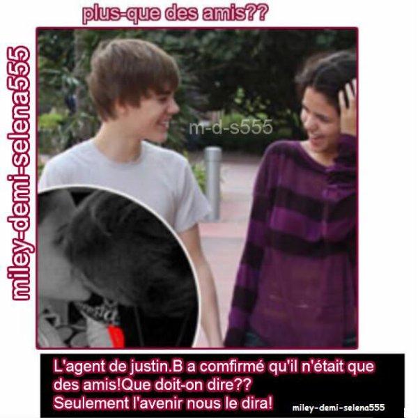 Justin et selena plus-que des amis??