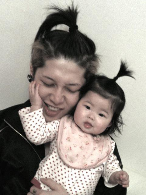 MIYAVI et sa fille