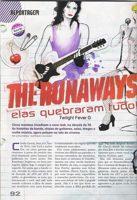 The Runaways dans le Magazine Penelope
