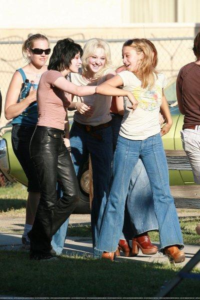 Sur le tournage du film The Runaways