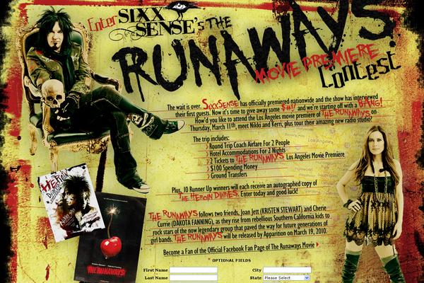 Un nouveau concours pour participer à la 1ère de The Runaways Toujours réservé aux Américains