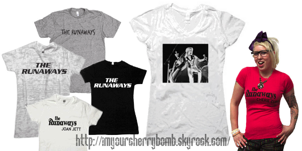 Les T-Shirts The Runaways