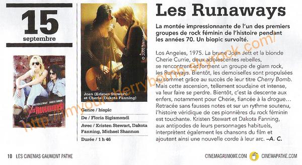 Les Runaways, bientôt dans nos salles de cinémas !