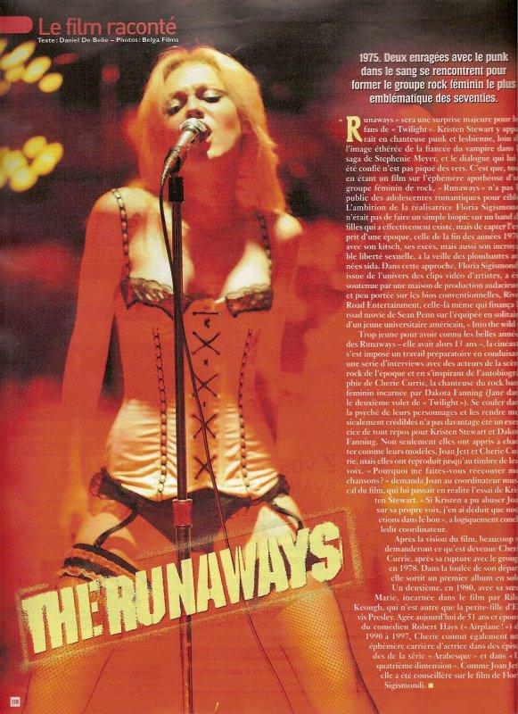 The Runaways dans le Ciné Télé Revue