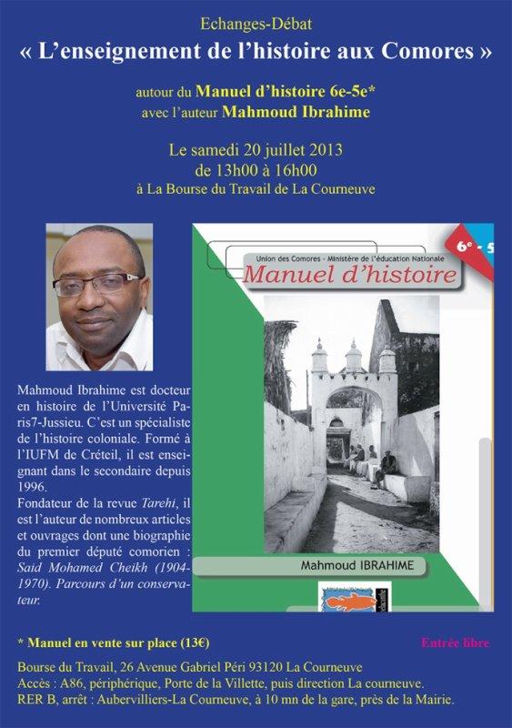 L'Enseignement de l'Histoire aux Comores