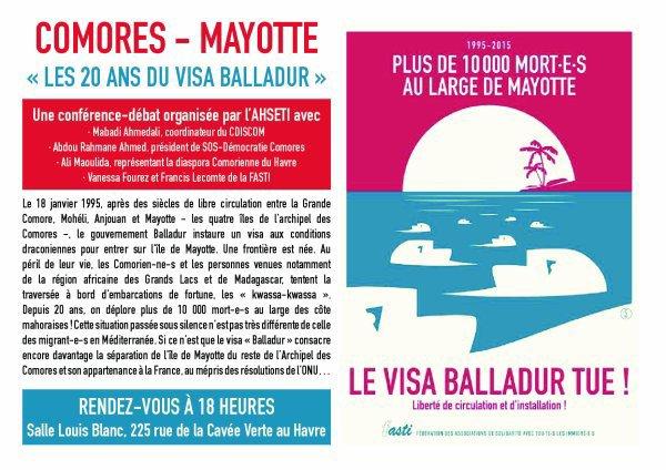 """COMORES - Mayotte """"LES VINGT ANS DU VISA BALLADUR"""""""