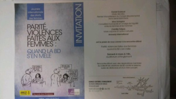 INVITATION À LA PARITÉ,  VIOLENCES FAITES AUX FEMMES : quand la BD s' en mêle.