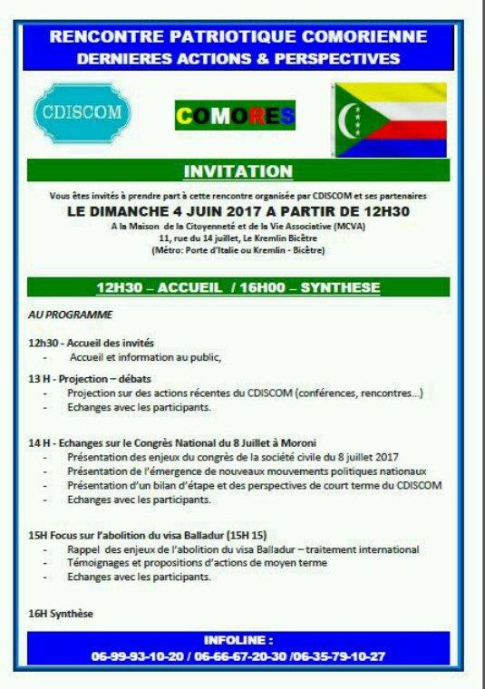 Rencontre des patriotes dimanche 4 juin 2017