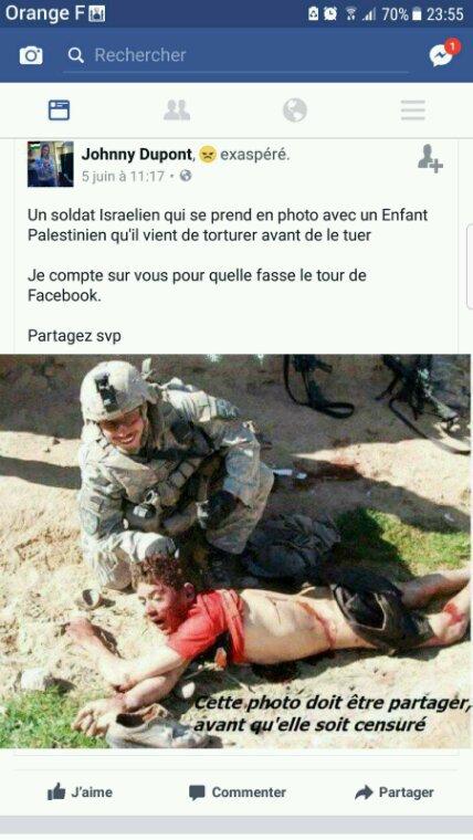 Les assassinats gratuits des soldats sionistes