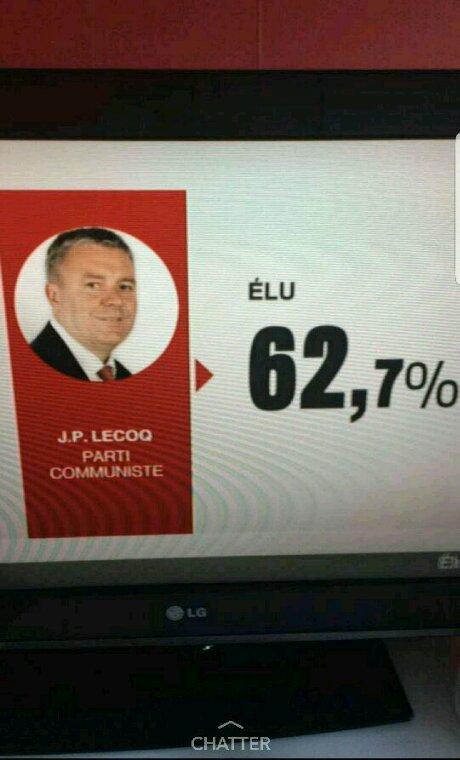 Jean Paul LECOQ est élu député de la 8 ème du Havre