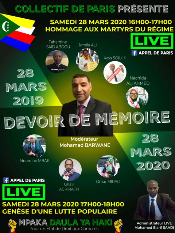 Devoir de mémoire : occupation de l'ambassade des Comores en France