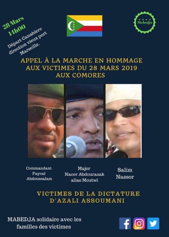 Marche de Marseille ce dimanche 28 mars 2021