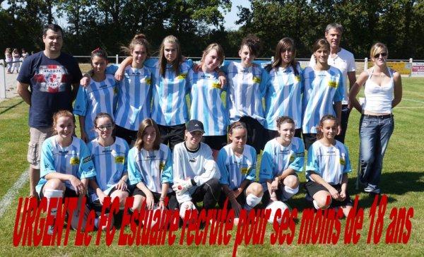 La nouvelle équipe de U18 Féminine