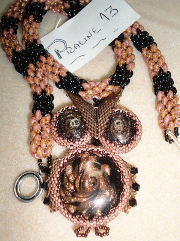 j'ai fait une nouvelle spirale pour ma Chouette..je l'ai réalisée pendant mes vacances.elle s'appelle DUOROPE d'une perleuse hongroise...