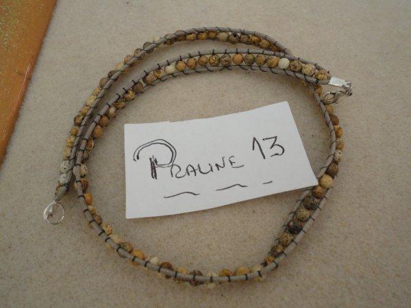 en ce moment je m'inspire beaucoup d'internet pour faire des bracelets....celui ci est en jaspe paysagé...